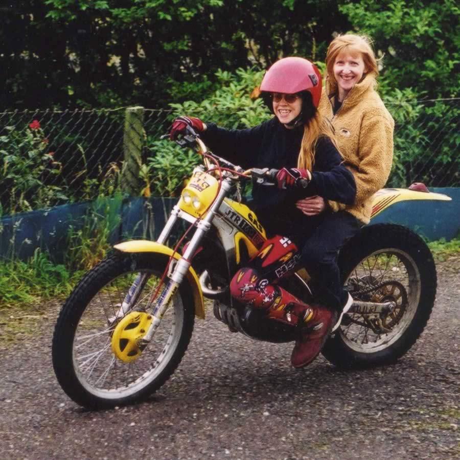 Image of Anna - on Motorbike
